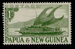 AUSTRALIA - Papua New Guinea QEII SG10, 1s yellow-green, LH MINT.
