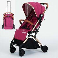 FOLDABLE BABY TROLLEY STROLLER PUSHCHAIR PRAM BUGGY FREE RAIN COVER BAG