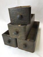 Vtg Antique Singer Treadle Sewing Machine 4 Wood Drawers Tiger Oak Cabinet Table
