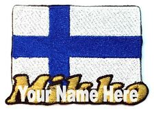 Flag of Finland Custom Iron-on Patch With Name Personalized Free