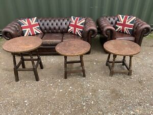 3 Vintage Copper Topped Pub Tables Price Is For One