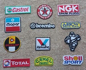 Set of 12 Motor Racing / Motor Sport Patches : Classic Cars Goodwood Festival e