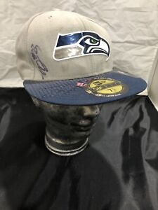 New Era 2015 Draft Collection SEATTLE SEAHAWKS Fitted Hat SIGNED Neiko Thorpe!