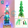Rotating Music Colorful Christmas Tree LED Water Lamp+Breathing Light DIY Kits