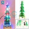 Rotating Music Colorful Christmas Tree LED Water Lamp+Breathing Light DIY Kits