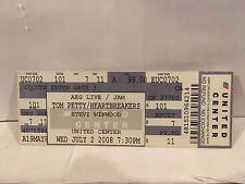 Tom Petty Concert Ticket Stub 7-2-2008 United Center Chicago IL