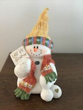 "Sarah's Attic Snowonders Figurine 1998- January ' Capper"" 6400"