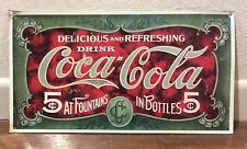Coca Cola Metal Sign Reproduction Advertising Retro Delicious and Refreshing