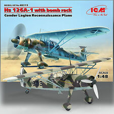 ICM 1/48 HEINKEL HS 126A-1 'WITH BOMB RACK' CONDOR LEGION RECON PLANE KIT