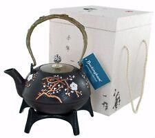 More details for buckingham  handmade japanese style cast iron teapot kettle 1300 ml gift box set