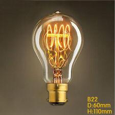 B22 Classic Amber Glass A19 Quad Loop Filament Bulb Home Loft Pendant Lamp 40W