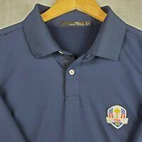 RLX RALPH LAUREN Size XL Mens USA RYDER CUP 2016 Golf Casual Polo Shirt Navy EUC