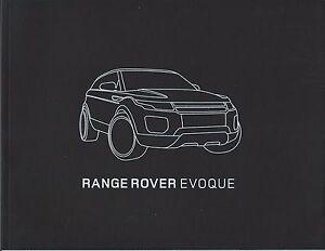 Land Rover Range Rover Evoque UK Brochure 2010 2011 inc Prestige Dynamic Plus