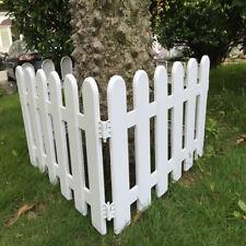 4pcs Plastic Round Pile Decorative Fence Edging Border Nursery Garden Fences