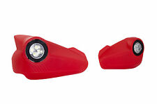 MOTORCYCLE ENDURO TOURING HANDGUARDS OUTLOOK LED LIGHT HAND GUARDS HONDA RED