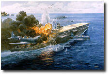 """Pawn Takes Castle"" (Artist Proof) Tom Freeman-Battle of Midway, Attack on Akagi"
