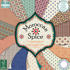 Dovecraft First Edition 8x8 Paper Pad - MOROCCAN SPICE - Scrapbooking Cards