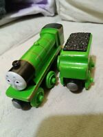 HENRY and TENDER  Learning Curve for  Wooden Train Engine ( Brio Thomas Set )