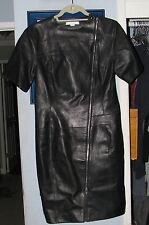 Alexander Wang Runway Lambskin Black Zipper Leather Dress Size 8