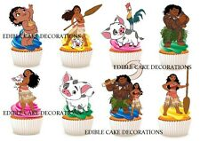 30 MOANA STAND UP Cupcake Cake Topper Edible Paper Decoration Birthday Party