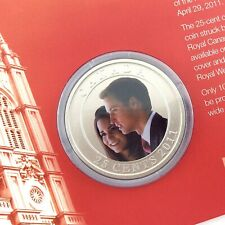 Prince William Catherine Middleton Canada 2011 Commemorative 25 Cent Coin M424