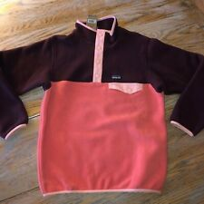 PATAGONIA girls LW synchilla snap T fleece/NWT/spice coral/M(10)