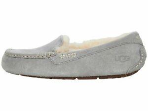 UGG Ansley Light Grey Women's Suede Indoor/Outdoor Moccasin Slippers 1106878
