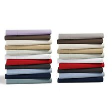 Cozy Bedding Collection 1000TC Egyptian Cotton Olympic Queen Solid/Stripe Colors