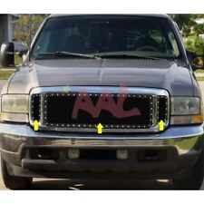 AAL 99 00 01 02 03 04 Ford F250/350 Black Wire Mesh + Rivet Grille Grill Insert