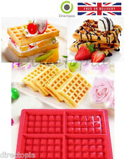 4 Waffle Silicone Mould Muffin Pans Baking Cake Tray Waffle Kitchen Tool