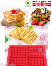 4 Waffle Silicona Molde Muffin sus panes y piezas Para Hornear Pastel Molde Bandeja Waffle Utensilio De Cocina