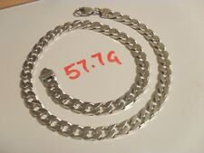Mens or Ladies Curb Chain Solid Sterling Silver Fully Hallmarked Guaranteed