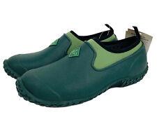 Muck Women's Muckster II Low Mud Rain Waterproof Slip On Moss Green Boots Sz 10