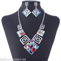 Charm Women Chain Statement Chunky Collar Pendant Choker Bib Necklace Jewelry