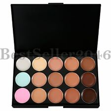 Pro15 Color Concealer Palette Contour Foundation Cream Natural Smoky Bare Makeup