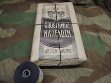 WW2 WH 2 ROLLEN a` 50g SCHWARZ NÄHMASCHINENZWIRN NÄH FADEN ZWIRN UNIFORM 1943