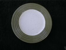 Woolrich Summerstone Falls Horizon Green Ringed Rim White Speckled Salad Plate