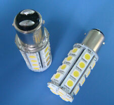 1x BA15D 1142 1076LED Marine bulb Boat/Car lights 30-5050SMD 12~24V White 6500K