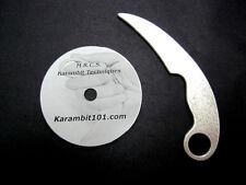 Aluminum Karambit Training Blade & Knife Fighting DVD Trainer Kerambit Knives