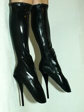BLACK OR RED LATEX RUBBER BALLET BOOTIES SIZE 10-16 HEELS-8,5'- PRODUCER POLAND