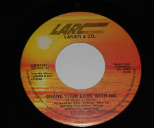 LANIER & CO. NM Share Your Love With Me 45 Fallin' In Again Larc LR-81021 Soul