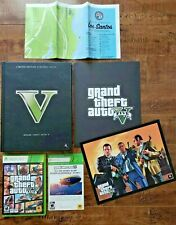 Grand Theft Auto V 5 (Xbox 360, 2008) + LIMITED EDITION STRATEGY GUIDE + CARD