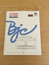 Canon BJC-4100 User's Manual