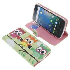 Tasche für Acer Liquid Z630 Book-Style Schutz Hülle Handytasche Buch Eule Grün