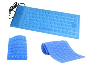 Foldable Flexible Rollup USB Wired Silicone Keyboard Water-Resistant PC Laptop