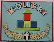 Kolibri AHE Holz Puzzle Legespiel Holzbaukasten  Holz-Spielwaren-Fabrik 1956 RAR