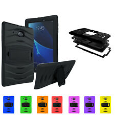 """Galaxy Tab E 9.6"""" T560 2015 Tablet Case by Shockproof Heavy Duty Military Black"""