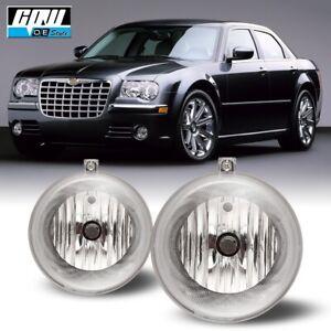 For Chrysler 300 07-09 Bumper Fog Light Lamp Replacement Clear Lens PAIR