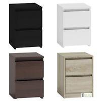 Ikea Style Bedside Table, Cabinet, Two Drawers - Oak ,White ,Walnut, Black Gloss