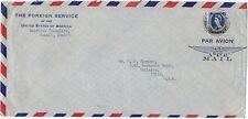 Kuwait US 1957 American Consulate Abdeckung Frankierte 1 Rupeen Queen Victoria